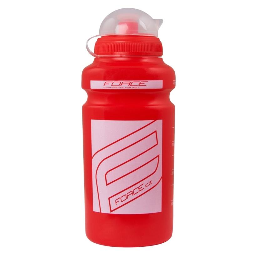 """FORCE - láhev  """"F"""" 0,5 l, červená/bílý potisk"""