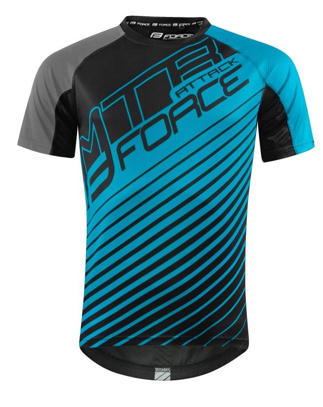 FORCE - dres  MTB ATTACK, modro-černý