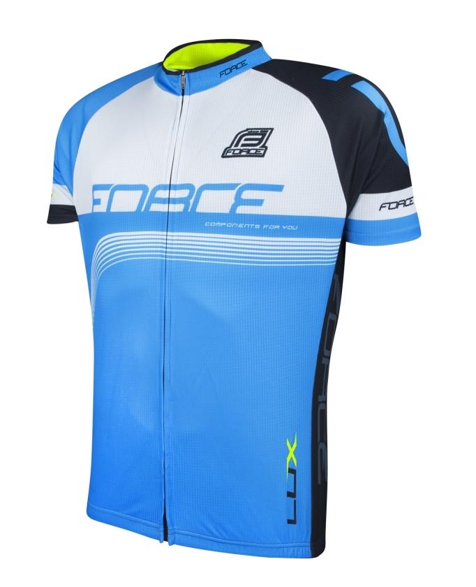 FORCE - dres  LUX krátký rukáv,modro-černo-bílý