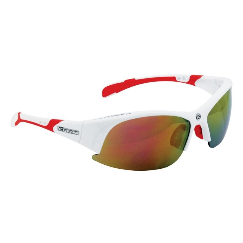 FORCE - brýle  ULTRA bílé, červená skla