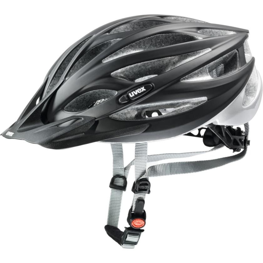 UVEX - helma OVERSIZE BLACK MAT - SILVER 61-65 cm