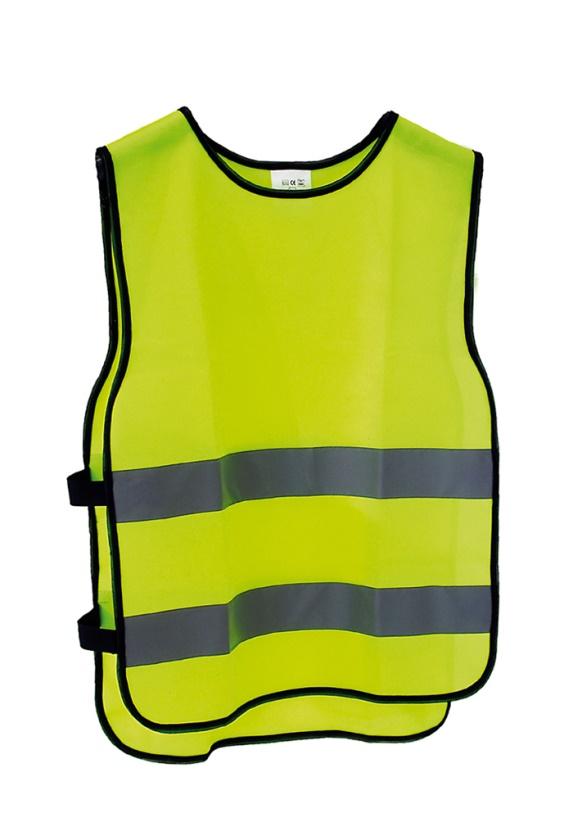 BASIC - reflexní bezpečnostní vesta M/L JUNIOR výška postavy 160-180cm, obvod hrudníku 84-108cm