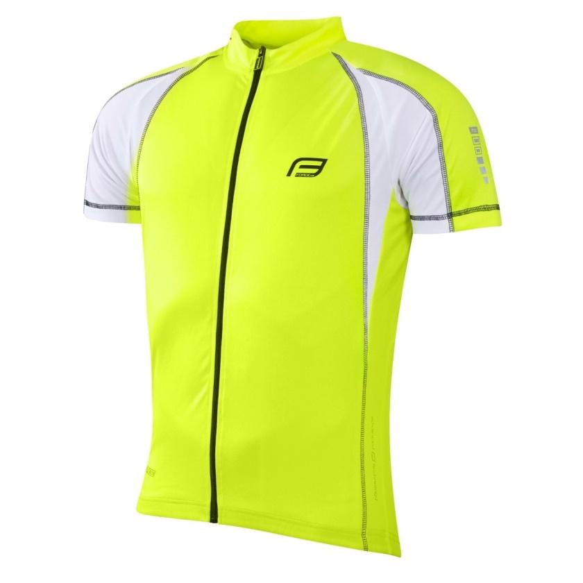 FORCE - dres  T10 krátký rukáv, fluo-bílý