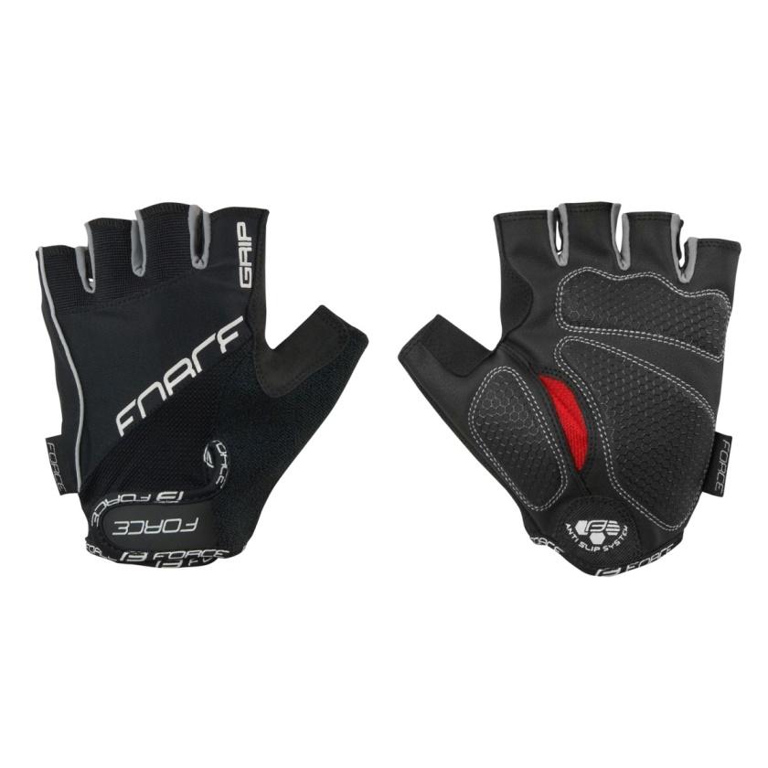 FORCE - rukavice  GRIP gel, černé