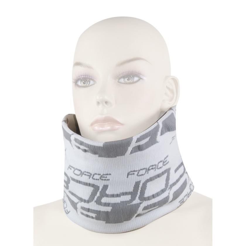 FORCE - šátek multifunkční  zima, bílo-šedý, UNI