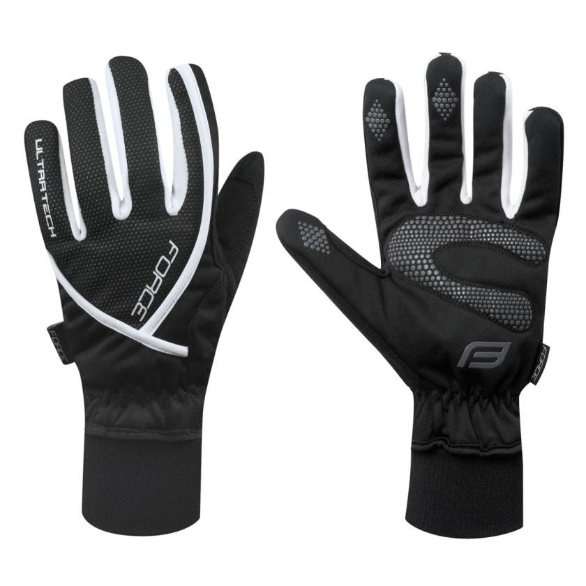 FORCE - rukavice zimní  ULTRA TECH, černé