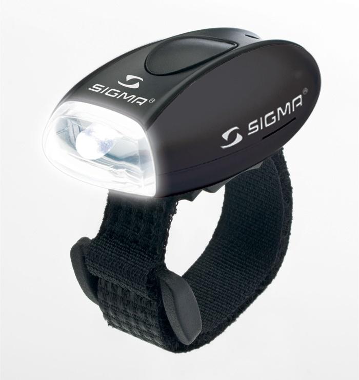 SIGMA - přední světlo MICRO černá / přední světlo LED-bílá