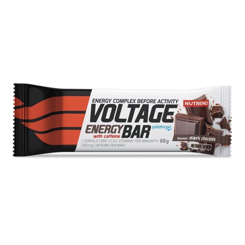 NUTREND - VOLTAGE ENERGY BAR s kofeinem 65g hořká čokoláda