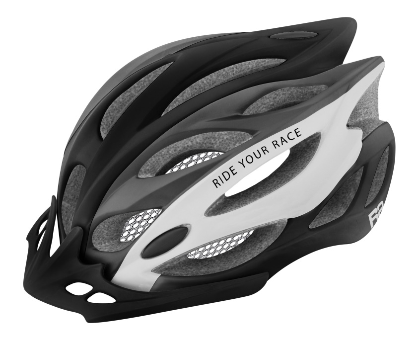 R2 - helma WIND černá/šedá/bílá