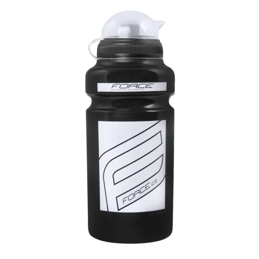 """FORCE - láhev  """"F"""" 0,5 l, černá / bílý potisk"""