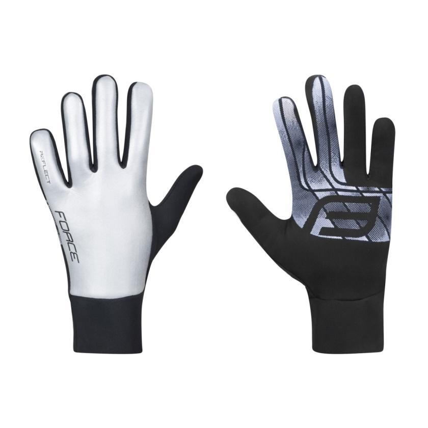 FORCE - rukavice  REFLECT, celoreflexní
