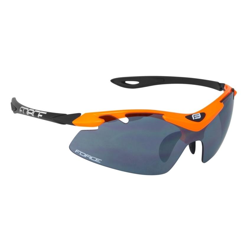 FORCE - brýle  DUKE oranžovo-černé, černá laser skla
