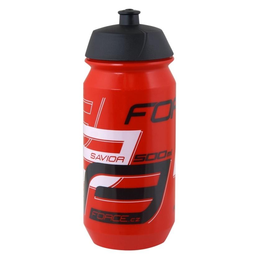 FORCE - láhev  SAVIOR 0,5 l, červeno-bílo-černá