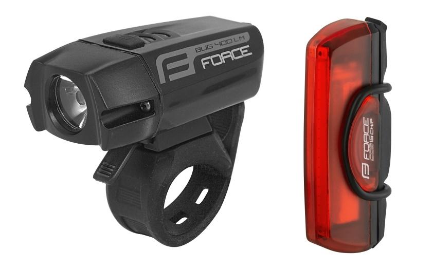 FORCE - světla sada  GLARE USB přední+zadní