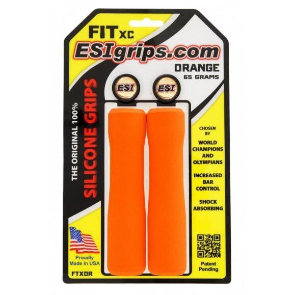 ESI GRIPS Gripy FIT XC Ergo, 65g - oranžová