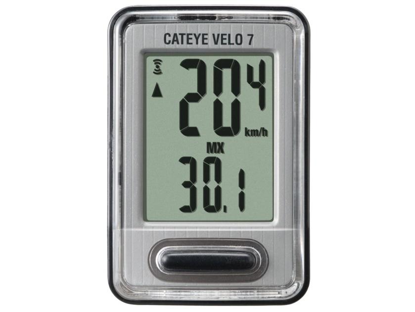 CATEYE Cyklopočítač CAT Velo 7 (černá/stříbrná)