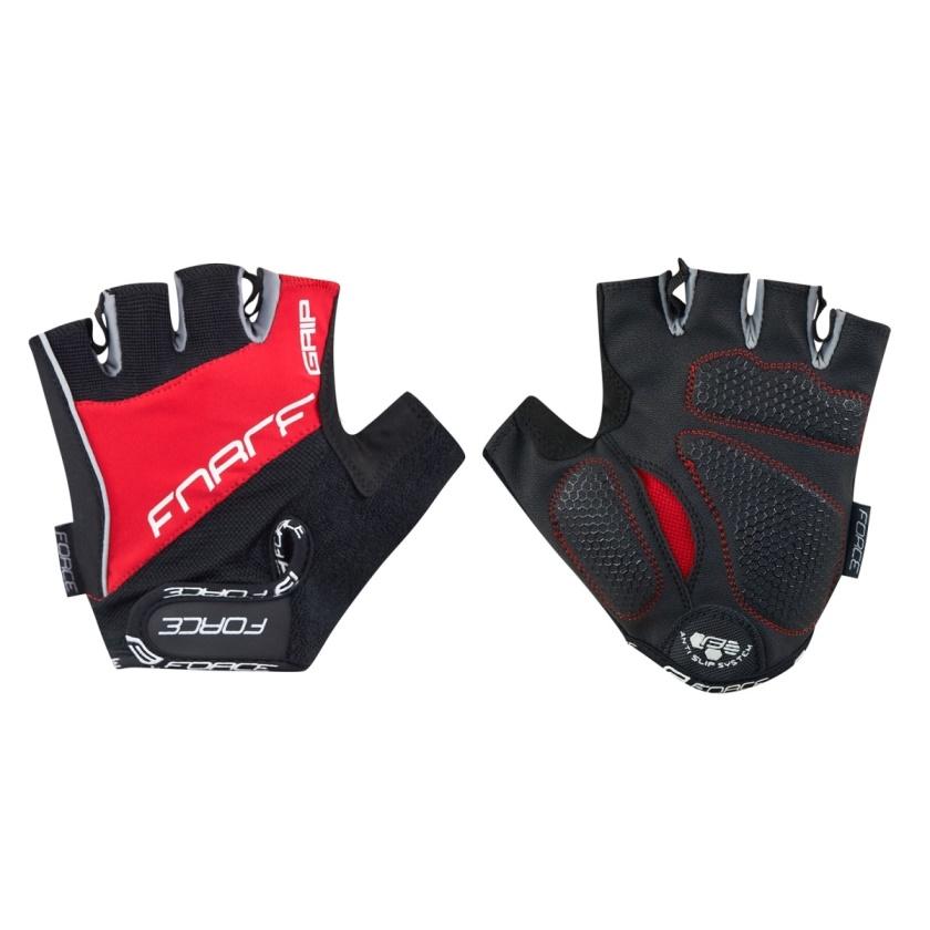 FORCE - rukavice  GRIP gel, červené