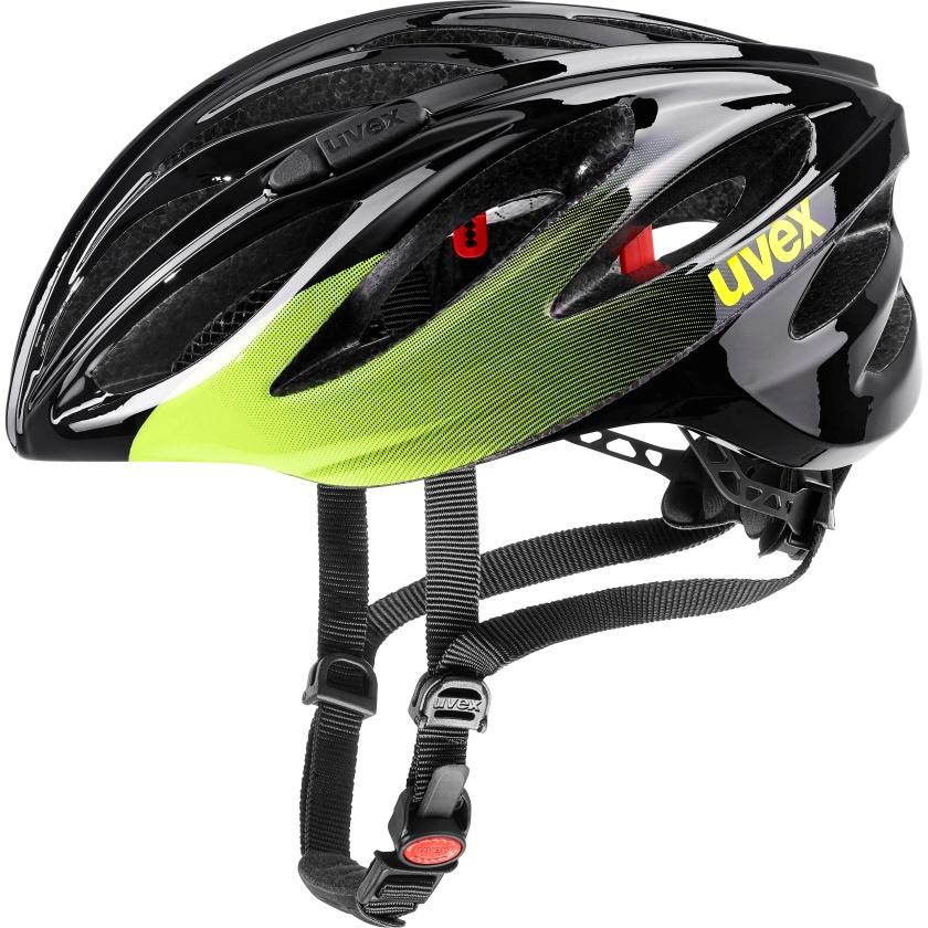 UVEX - helma BOSS RACE BLACK - LIME