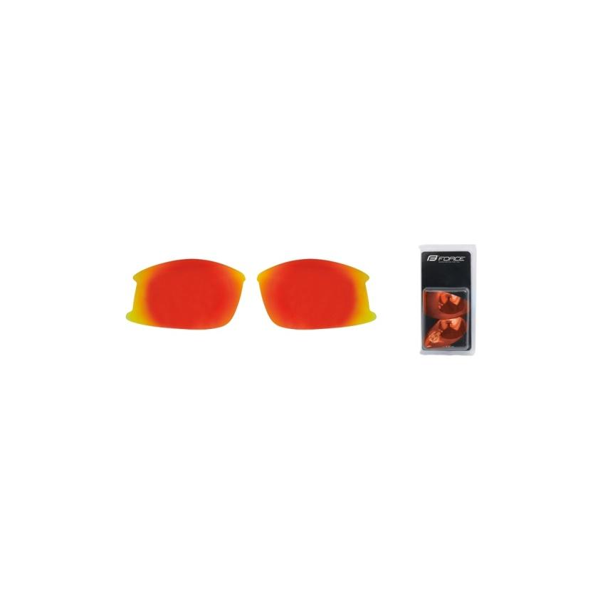 FORCE - skla náhradní ULTRA pár, červená laser