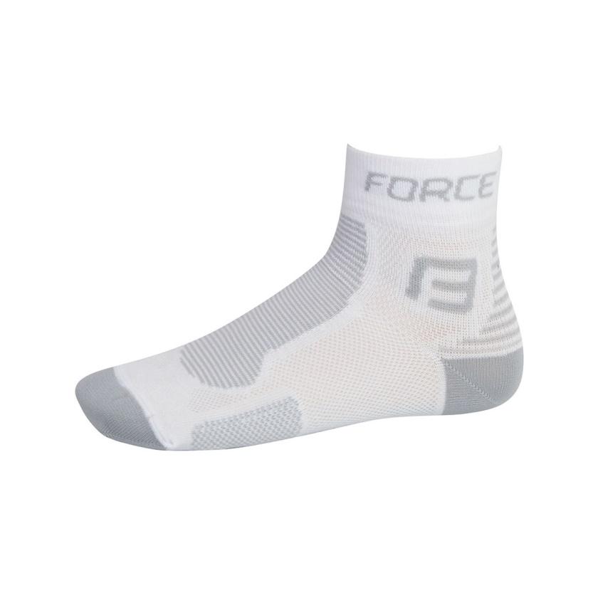 FORCE - ponožky  1, bílo-šedé