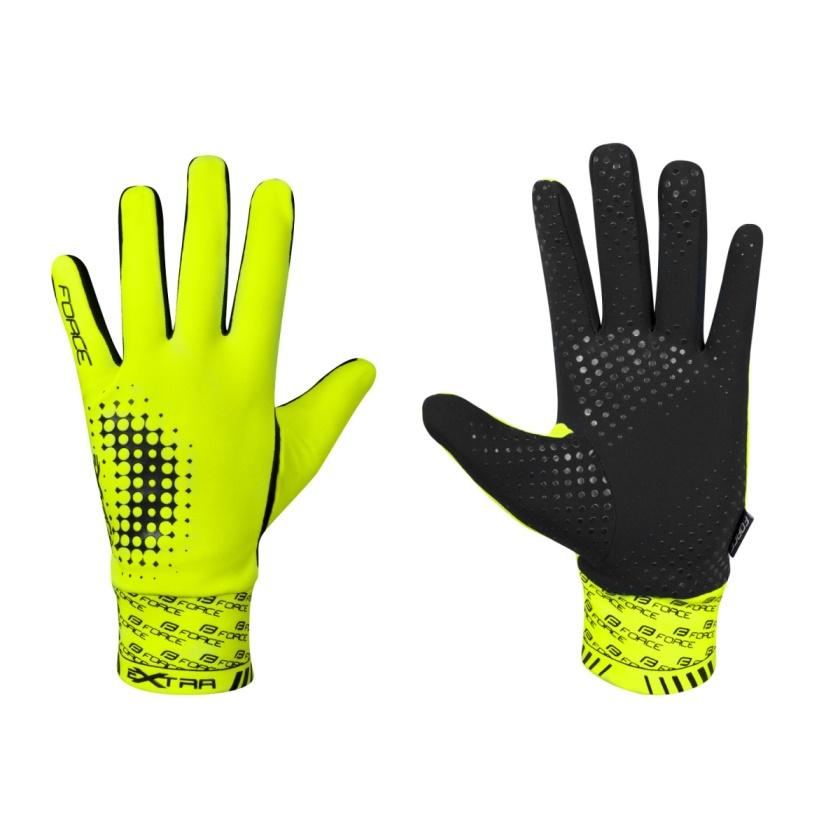 FORCE - rukavice  EXTRA, jaro-podzim, fluo