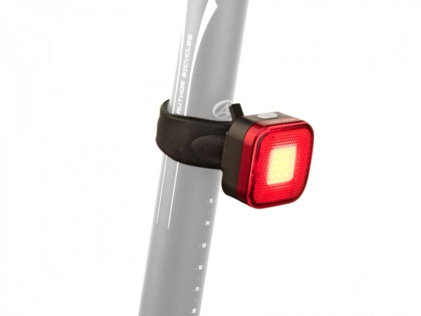 AUTHOR Světlo zadní A-Square USB CobLed 40 lm černá