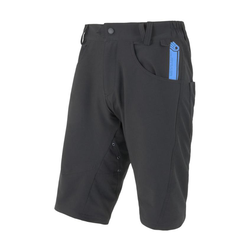 SENSOR - kalhoty krátké volné CYKLO CHARGER černá