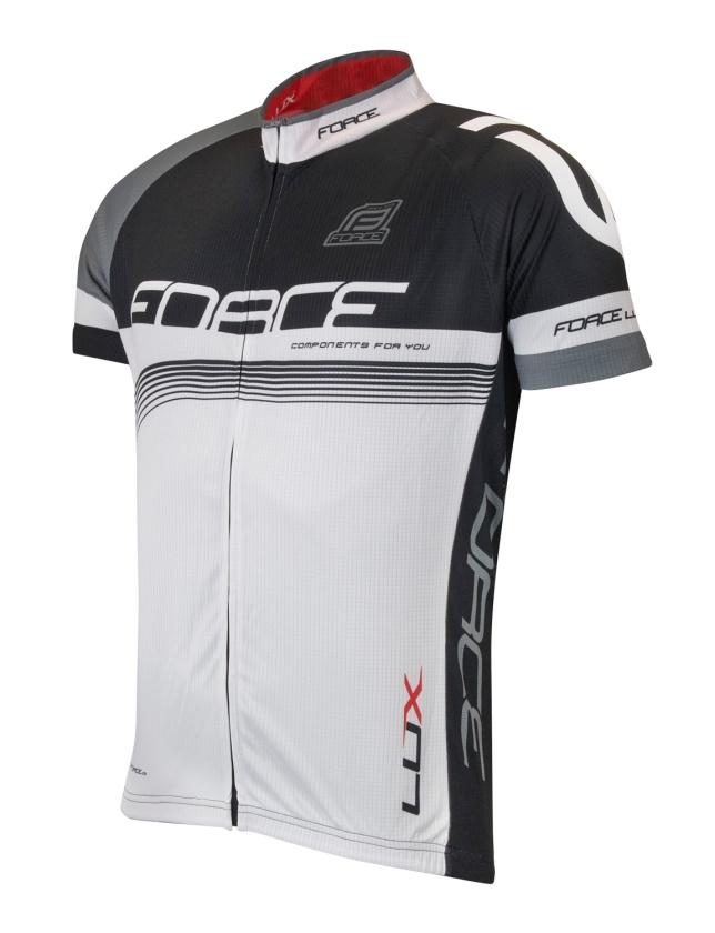 FORCE - dres  LUX krátký rukáv černo-bílý