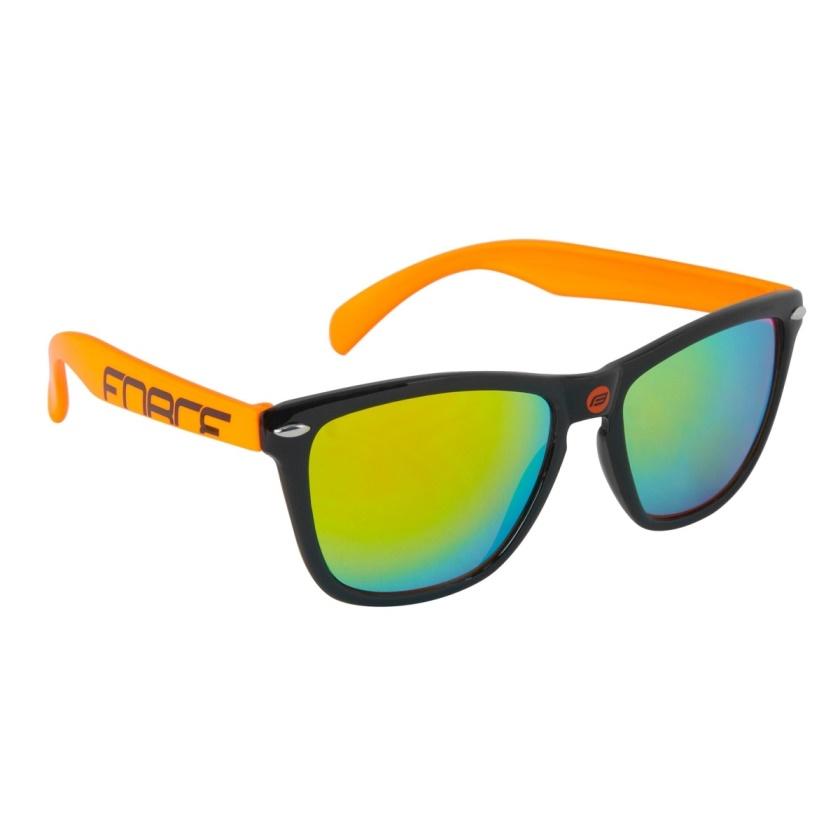 FORCE - brýle  FREE černo-oranžové, oranž. laser skla