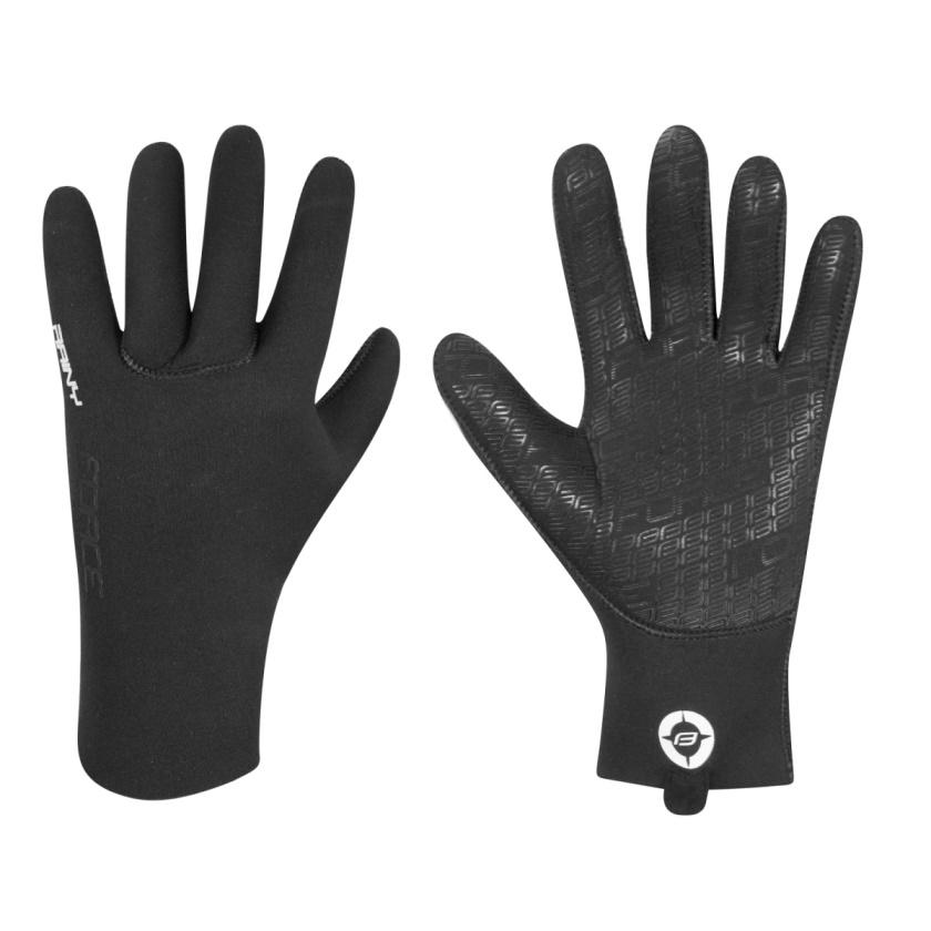 FORCE - rukavice neoprén  RAINY, černé