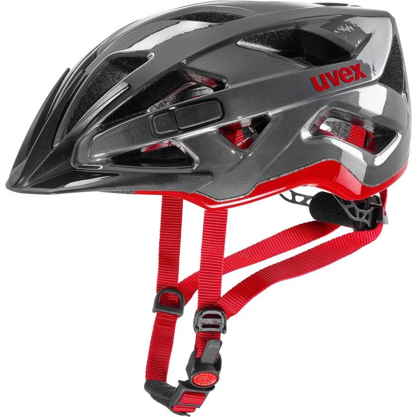 UVEX - helma ACTIVE ANTHRACITE - RED