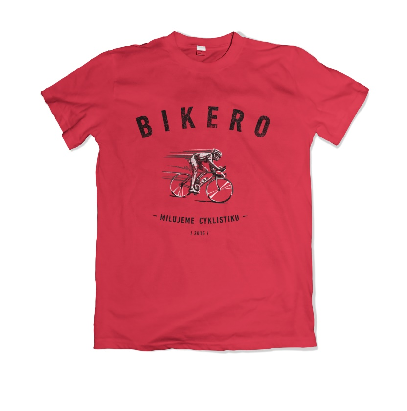 BIKERO - Triko pánské hipster 2020, červené