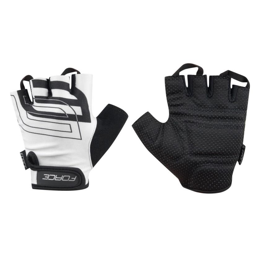 FORCE - rukavice  SPORT, bílé