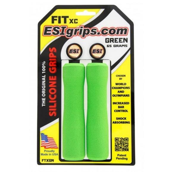 ESI GRIPS Gripy FIT XC Ergo, 65g - zelená
