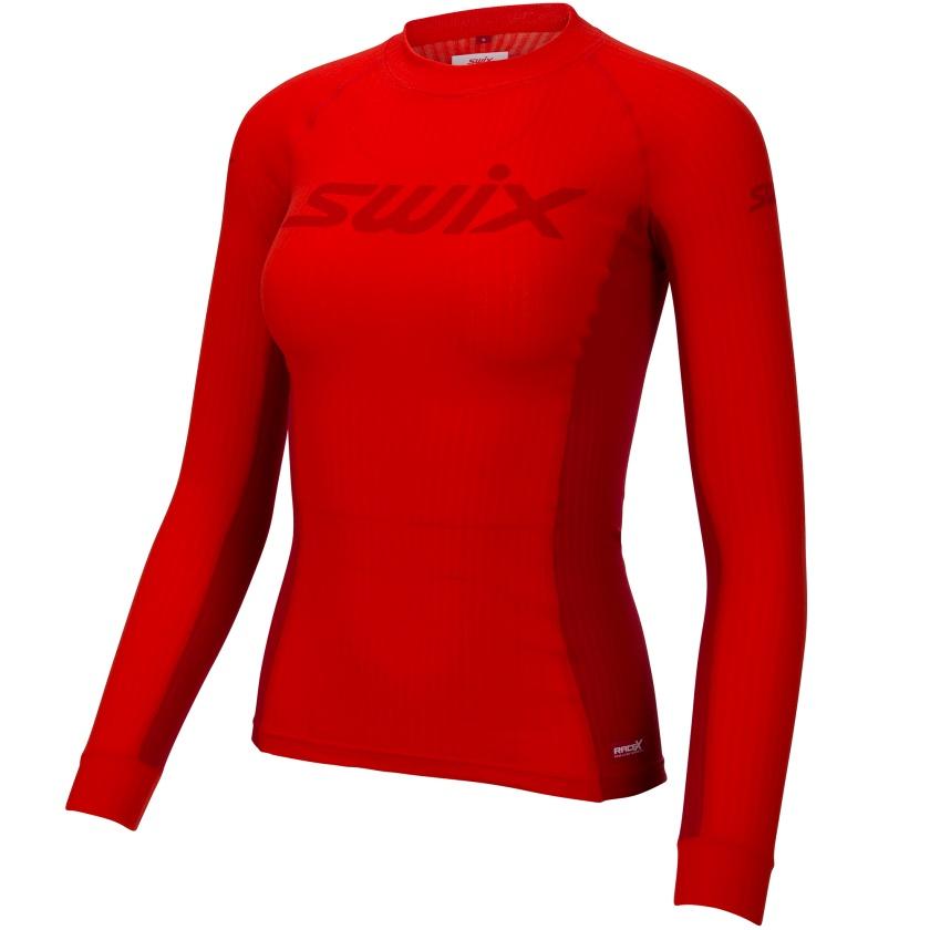 SWIX - Dámské triko dl. rukáv RaceX Fiery Red