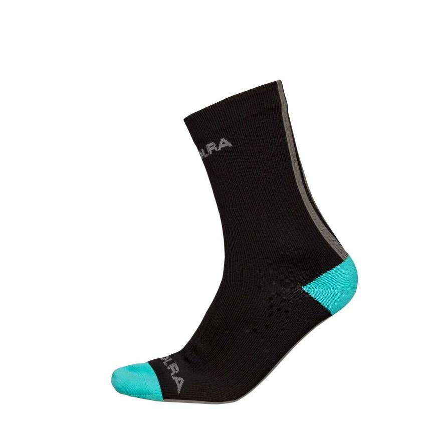 ENDURA Voděodolné krátké ponožky Hummvee : Černá