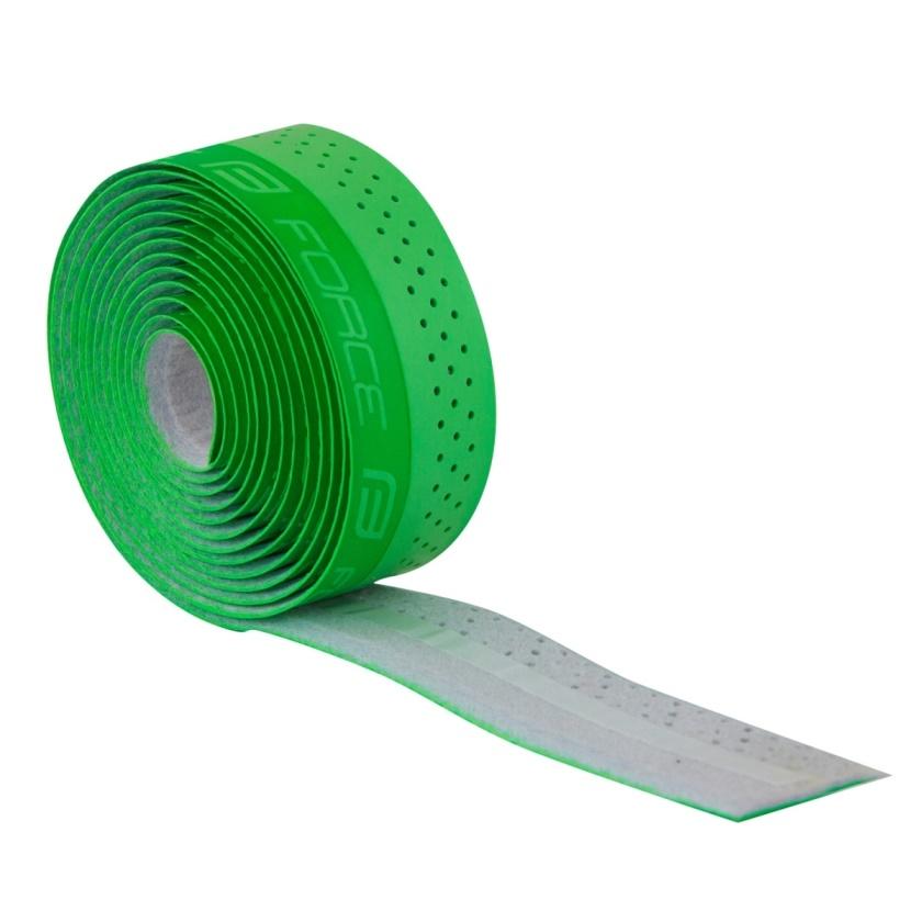 FORCE - omotávka  PU s vytláčeným logem, zelená