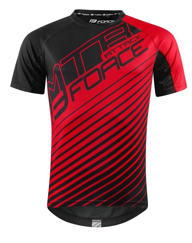FORCE - dres  MTB ATTACK, černo červený