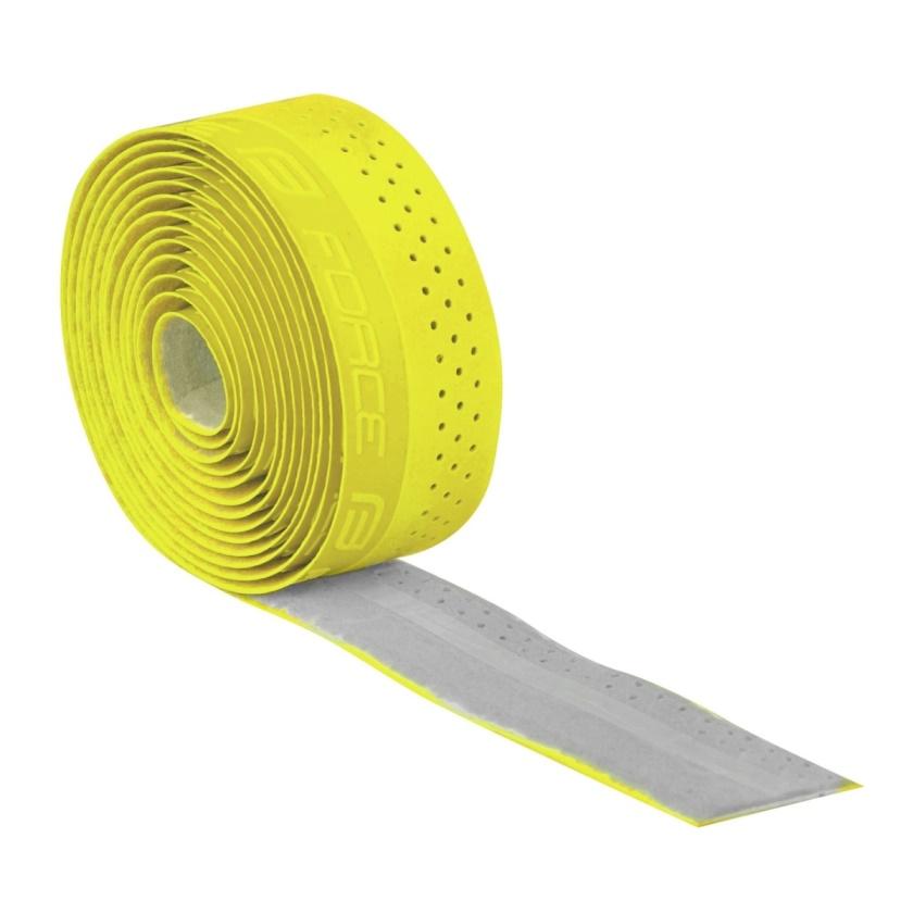 FORCE - omotávka  PU s vytláčeným logem, žlutá