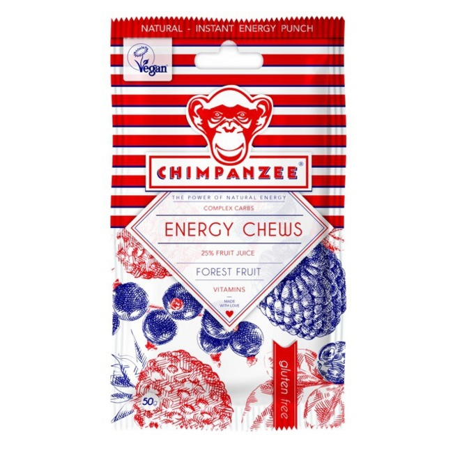 CHIMPANZEE -  ENERGY CHEWS Forest Fruit 30g