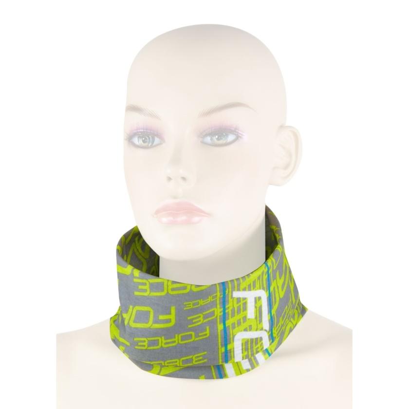 FORCE - šátek multifunkční  léto, fluo-šedý, UNI
