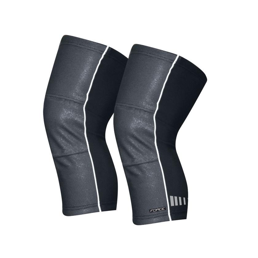 FORCE - návleky na kolena WIND-X, černé