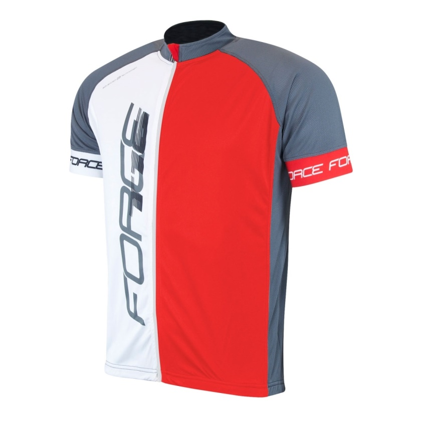 FORCE - dres  T16 krátký rukáv, černo-šedo-červený
