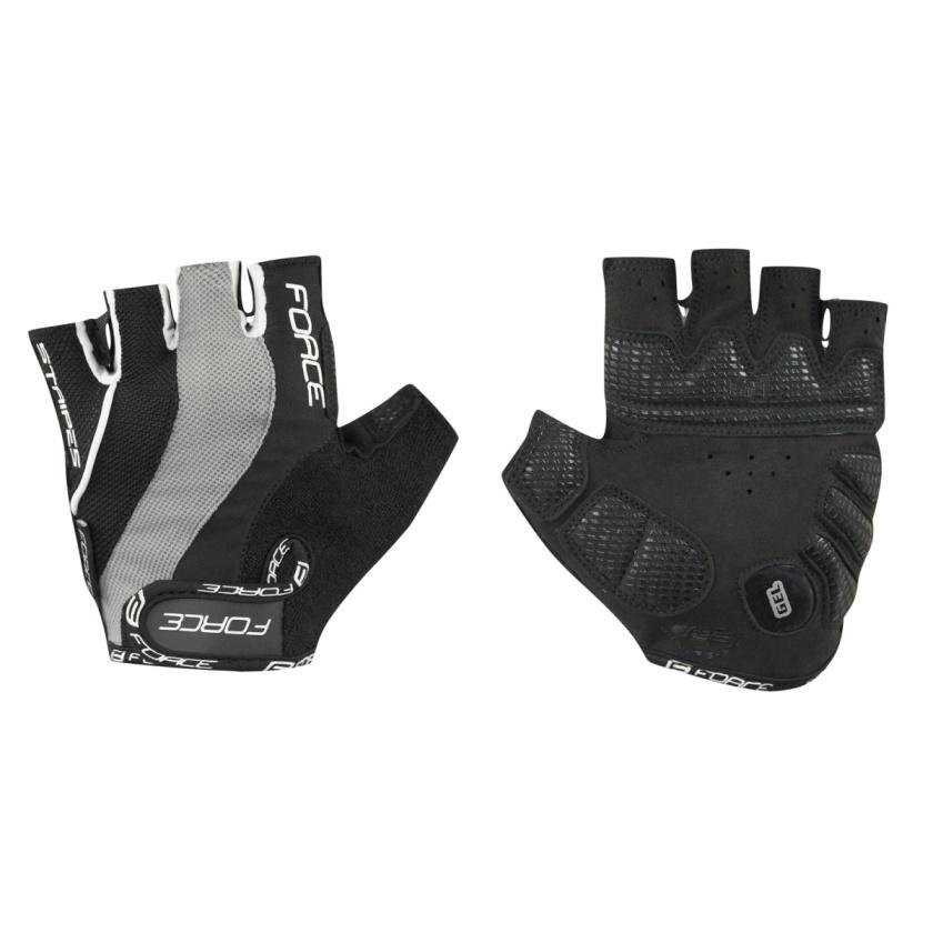 FORCE - rukavice  STRIPES gel, černé