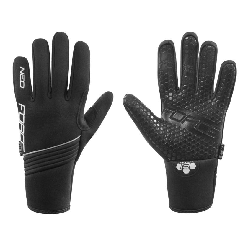 FORCE - rukavice zimní neoprén  NEO, černé