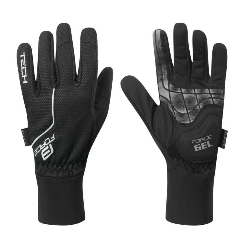 FORCE - rukavice  WINDSTER SPRING, černé