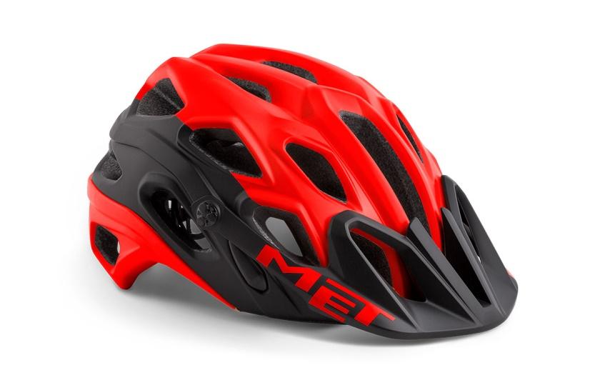 MET - helma LUPO červená/černá matná