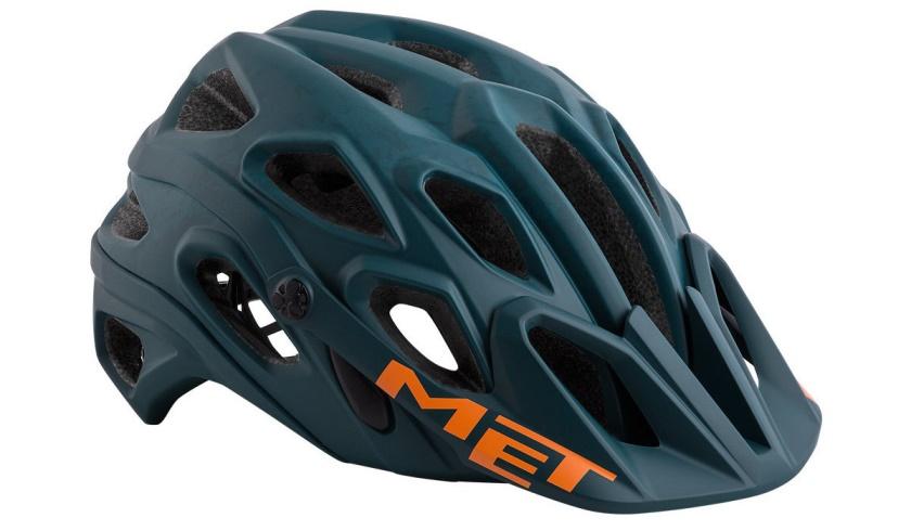 MET - helma LUPO modrá/olej/textura matná