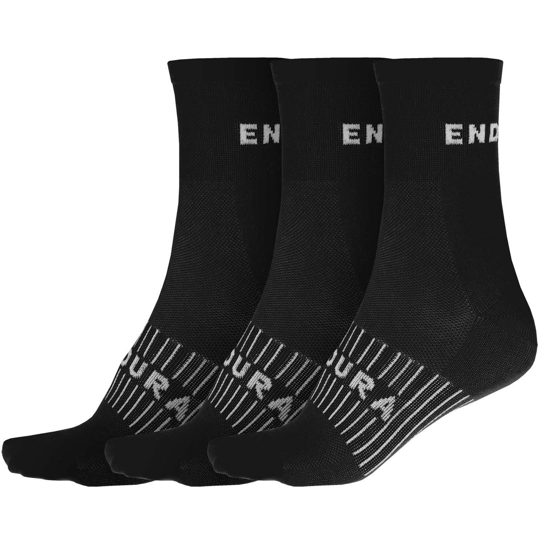 Endura Ponožky Coolmax Race 3ks černá S-M