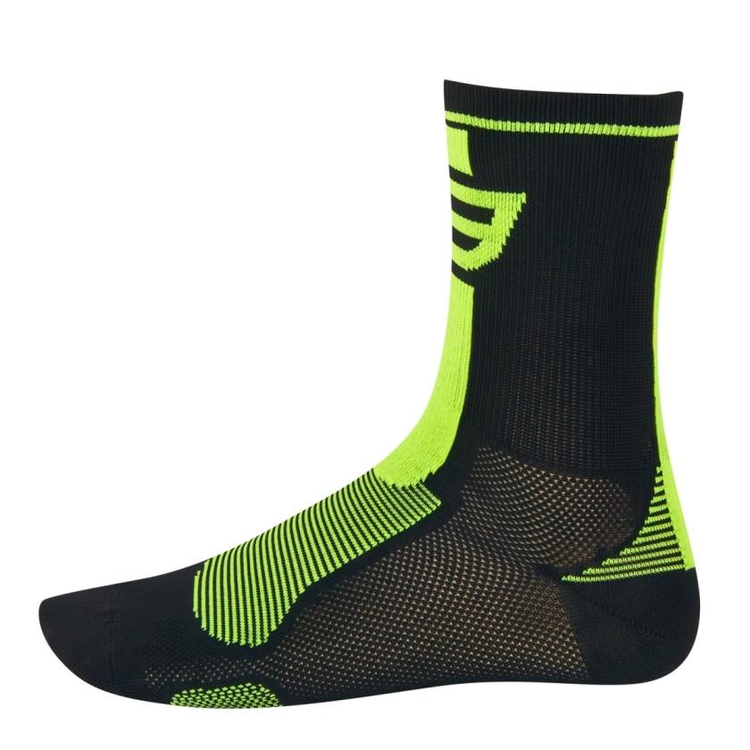 FORCE - ponožky  LONG, černo-fluo